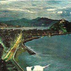 Postales: SAN SEBASTIÁN - VISTA NOCTURNA DESDE EL MONTE ULÍA - ED. MANIPEL - CIRCULADA - 1973. Lote 32636119