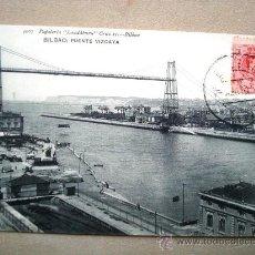 Postales: POSTAL ANTIGUA BILBAO. PUENTE VIZCAYA. CIRCULADA EL 04/08/1910.. Lote 32650611