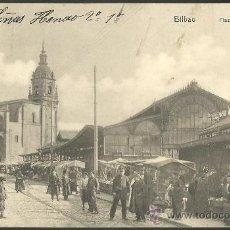 Postales: TARJETA POSTAL DE BILBAO VIZCAYA - PLAZA DEL MERCADO. Lote 32650985