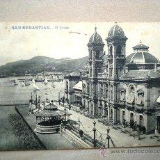 Postales: POSTAL ANTIGUA SAN SEBASTIÁN. EL CASINO. ESCRITA.. Lote 32656213