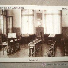 Postales: POSTAL ANTIGUA MIRACRUZ. COLEGIO DE LA ASUNCIÓN. SALA DE LABOR.. Lote 32656868