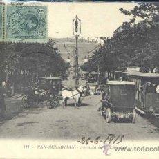 Postales: SAN SEBASTIAN (GUIPUZCOA).- AVENIDA DE LA LIBERTAD. Lote 33026615