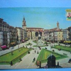 Postales: VITORIA. PLAZA DE LA VIRGEN BLANCA. Lote 33253517