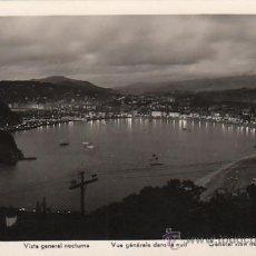 Postales: SAN SEBASTIÁN, VISTA NOCTURNA, EDITOR: MANIPEL. Lote 33404917