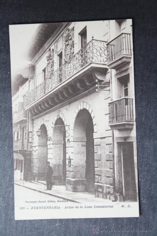 POSTAL FUENTERRABIA - ARCOS DE LA CASA CONSISTORIAL, EDITADA POR MARCEL DELBOY, BORDEAUX (Postales - España - Pais Vasco Antigua (hasta 1939))