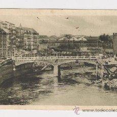 Postales: POSTAL DE BILBAO PUENTE DE LA MERCED AÑO1939 CENSURA MILITAR. Lote 33509327