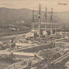Postales: OLAVEAGA.- DIQUES SECOS. FECHADA EN MOGUER EN 1910.. Lote 33782172