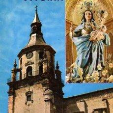Postales: VITORIA CATEDRAL VIEJA GARRIDO ESCRITA CIRCULADA SELLO. Lote 33819335