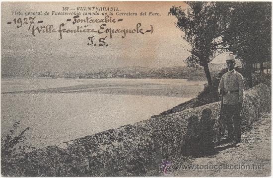FUENTERRABÍA.- VISTA GENERAL DE FUENTERRABÍA TOMADA DE LA CARRETERA DEL FARO. (C.1925). (Postales - España - Pais Vasco Antigua (hasta 1939))