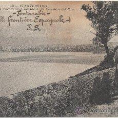 Postales: FUENTERRABÍA.- VISTA GENERAL DE FUENTERRABÍA TOMADA DE LA CARRETERA DEL FARO. (C.1925).. Lote 34049288