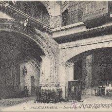 Postales: FUENTERRABÍA.- INTERIOR DE LA IGLESIA (SIGLO XVI).. Lote 34049966