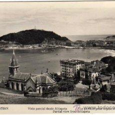 Postales: BONITA POSTAL - SAN SEBASTIAN - VISTA PARCIAL DESDE ALDAPETA. Lote 34071358