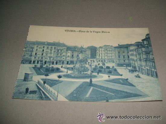 VITORIA PLAZA DE LA VIRGEN BLANCA (Postales - España - Pais Vasco Antigua (hasta 1939))