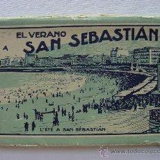 Postales: (BL-33) EL VERANO A SAN SEBASTIAN. 12 POSTALES. BLOC-L. ROISIN. CIRCA 1920. Lote 34495237