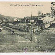 Postales: VIZCAYA VALMASEDA, PASEO DE D MARTIN MENDIA. CIRCULADA. Lote 205595081