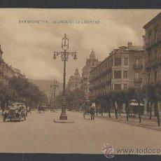 Postales: SAN SEBASTIAN - AVENIDA DE LA LIBERTAD - FOT. HAUSER Y MENET- (11.964). Lote 34926618