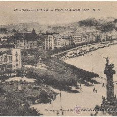 Postales: SAN SEBASTIAN.- PASEO DE ALBERDI EDER.. Lote 34962489