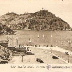 Postales: SAN SEBASTIAN - REGATAS DE BALANDROS EDITA MANIPEL SIN CIRCULAR. Lote 34997334
