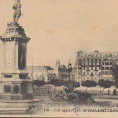 Postales: SAN SEBASTIÁN.- ESTATUA DEL ALMIRANTE OQUENDO.. Lote 35054079