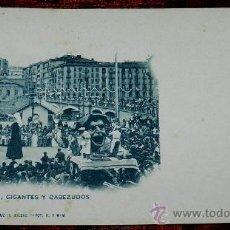 Postales: ANTIGUA POSTAL DE BILBAO (VIZCAYA). LANDABURU HERMANAS Nº 611 - GRGANTUA, GIGANTES Y CABEZUDOS. SIN. Lote 35062055