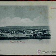 Postales: ANTIGUA POSTAL DE BILBAO (VIZCAYA). PLAYA DE LAS ARENAS, RECUERDO DE BILBAO . LIBRERIA DE ELEUTERIO. Lote 35062135