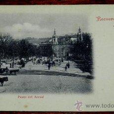 Postales: ANTIGUA POSTAL DE BILBAO (VIZCAYA). PASEO DEL ARENAL, RECUERDO DE BILBAO . LIBRERIA DE ELEUTERIO VI. Lote 35062147