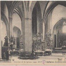 Postales: FUENTERRABIA.- INTERIOR DE LA IGLESIA (SIGLO XVI).. Lote 35196933