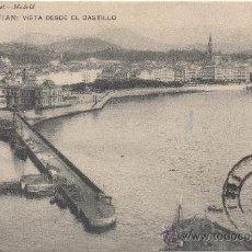 Postales: SAN SEBASTIÁN.- VISTA DESDE EL CASTILLO. (C.1905).. Lote 35197144