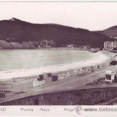 Postales: PLENCIA (VIZCAYA): PLAYA. L. ROISIN FOTO. NO CIRCULADA (AÑOS 40). Lote 35333403