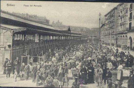BILBAO (VIZCAYA).- PLAZA DEL MERCADO (Postales - España - Pais Vasco Antigua (hasta 1939))