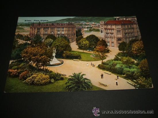 BILBAO PLAZA ELIPTICA ANTIGUA POSTAL (Postales - España - Pais Vasco Antigua (hasta 1939))