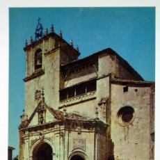 Postales: POSTAL SALVATIERRA ALAVA IGLESIA SAN JUAN COCHES HELIOTIPIA ARTÍSTICA ESPAÑOLA AÑOS 60 SIN CI. Lote 97111115