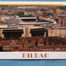 Cartoline: POSTAL DE VIZCAYA. AÑOS 90. ESTADIO DE FÚTBOL DE SAN MAMÉS, BILBAO, LA CATEDRAL. 1195. . Lote 35659996