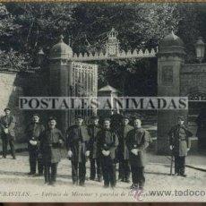 Postales: (A01553) SAN SEBASTIAN - ENTRADA DE MIRAMAR Y GUARDIA DE LOS MIQUELETTOS - LL Nº150. Lote 35708569
