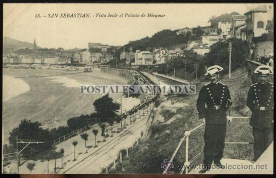 (A01588) SAN SEBASTIAN - VISTA DESDE EL PALACIO DE MIRAMAR - GALARZA Nº68 - GUARDIA CIVIL (Postales - España - Pais Vasco Antigua (hasta 1939))