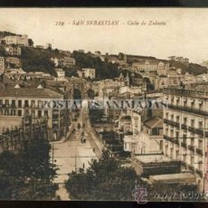 Postales: (A01595) SAN SEBASTIAN - CALLE DE ZUBIETA - GALARZA Nº119. Lote 35708923