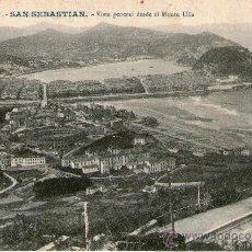 Postales: SAN SEBASTIAN VISTA DESDE MONTE ULIA ED. GALARZA CIRCULADA 1909 SAN SEBASTIAN VILLAROBLEDO ALBACETE. Lote 35913186