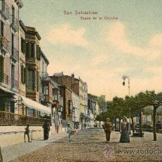 Postales: SAN SEBASTIAN PASEO DE LA CONCHA COLOR CIRCULADA 1909. Lote 35913270
