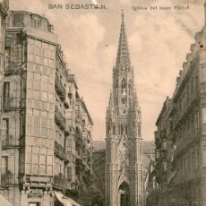 Postales: SAN SEBASTIAN IGLESIA DEL BUEN PASTOR ED ITALIANA PETRACCHI & NOTERMANN.CIRCA 1910 NO CIRCULADA. Lote 35913452