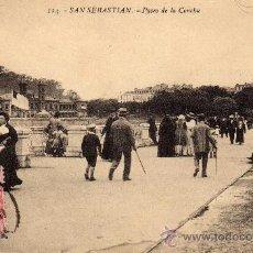 Postales: POSTAL DE SAN SEBASTIAN, PASEO DE LA CONCHA, CIRCULADA. Lote 35950303