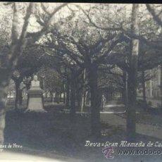 Postales: DEVA (GUIPUZCOA).- GRAN ALAMEDA DE CALBETÓN. Lote 36233862