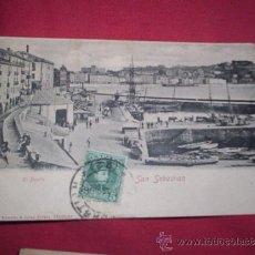 Postales: POSTAL SAN SEBASTIAN PUERTO CIRCULADA 1905 ROMMLER. Lote 36280985