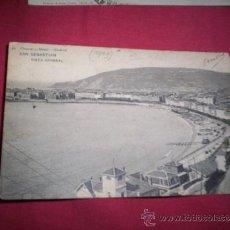 Postales: POSTAL SAN SEBASTIAN PLAYA CONCHA VISTA GENERAL CIRCULADA 1905 HAUSER Y MENET. Lote 36280994