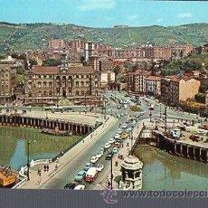 Postales: TARJETA POSTAL DE BILBAO - AYUNTAMIENTO Y PUENTE GENEREAL MOLA. 7258. Lote 36331417