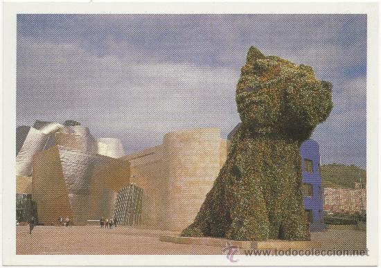 JEFF KOONS. PUPPY, 1992. ACERO INOXIDABLE, SUSTRATO Y PLANTAS EN FLORACIÓN. MUSEO GUGGENHEIM BILBAO. (Postales - España - País Vasco Moderna (desde 1940))