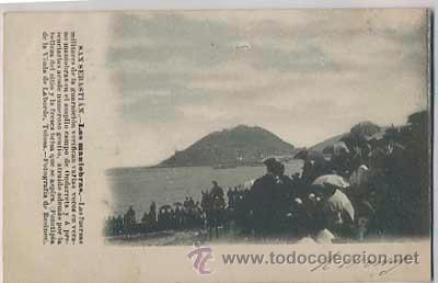 SAN SEBASTIAN MANIOBRAS MILITARES FOTOTIPIA VIUDA LABORDE FOTO OTERO REVERSO SIN DIVIDIR.CIRCULADA (Postales - España - Pais Vasco Antigua (hasta 1939))