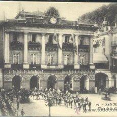 Postales: SAN SEBASTIAN (GUIPUZCOA).- PLAZA DE LA CONSTITUCION. Lote 37249028