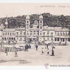 Postales: POSTAL Nº 3 EN BLANCO Y NEGRO DE SAN SEBASTIAN - EL CASINO. Lote 37359313