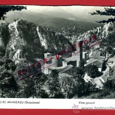 Postales: POSTAL ARANZAZU, GUIPUZCOA, SANTUARIO, VISTA GENERAL, P78363. Lote 37883861