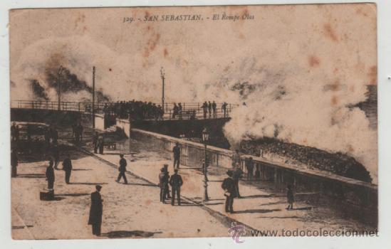 POSTAL-SAN SEBASTIAN- EL ROMPE OLAS (Postales - España - País Vasco Moderna (desde 1940))